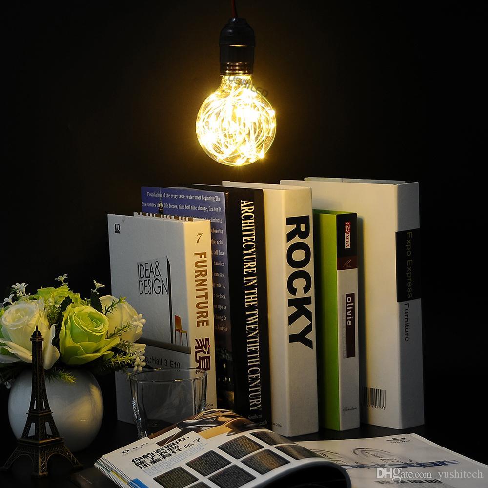 Nouveau E27 ST64 / G80 / G95 Vintage LED Fée Cordon Ampoule Blanc Chaud 110v 220v Ciel étoilé Rétro Lampe Globe Décorer l'éclairage Pour Noël