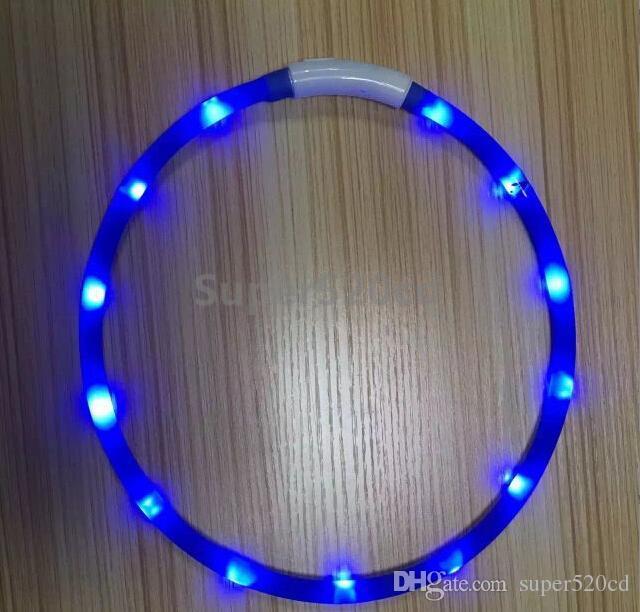 2016 newest Cut USB Charge Dog Training Collar LED Outdoor Luminous charger Pet Dog Collars light Adjustable LED flashing dog collar