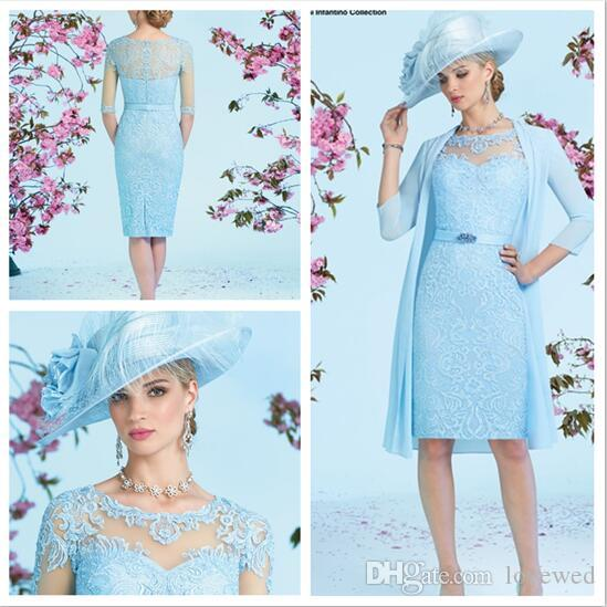 Baby Blue Mother of the Bride Dress