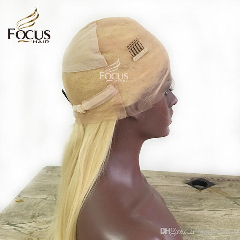 613 Blonde Full Lace Human Hair Wigs Light Blonde Natural Wave Lace Front Wig With Baby Hair Brazilian Golden Wig For Black Women