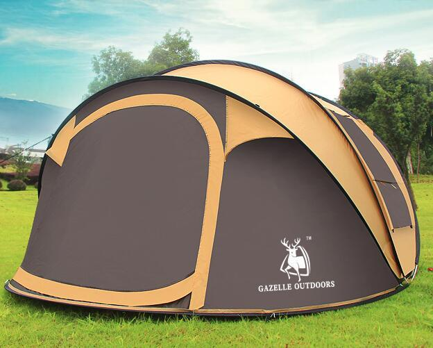 Emblema antilope all'aperto 3-4persons velocità automatica aperto lancio pop up spiaggia tenda da campeggio impermeabile antivento grande spazio