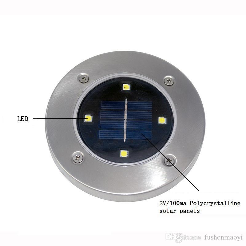 2017 جديد 4 أدى أضواء العشب الشمسية في الهواء الطلق أضواء الديكور حديقة الطابق مصباح الفناء الديكور أضواء الشحن السريع dhl