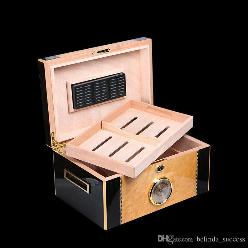 Best Quality Cohiba High Quality Glossy Piano Finish Wood Cigar Humidor Cabinet Large Capacity Storage Box W/ Lock Hygrometer Humidifier At Cheap Price ... & Best Quality Cohiba High Quality Glossy Piano Finish Wood Cigar ...