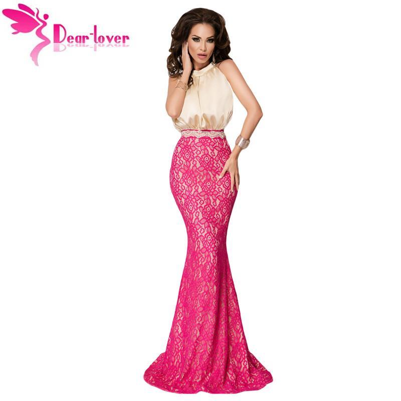 Compre Vestidos Largos Atractivos Del Vestido De Coctel De La Seda ...