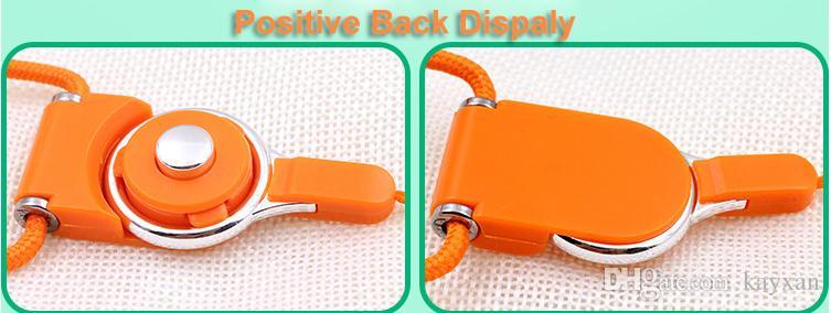 Universal lanyards nylon long detachable phone neck hang lanyard neck sling finger ring for cell phone ID card key chain