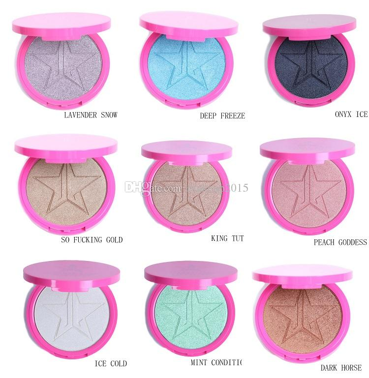 Jeffree Star Skin Frost Bronzer Highlighters Five Star Glow Kit Eye Shadow Powder Face Makeup