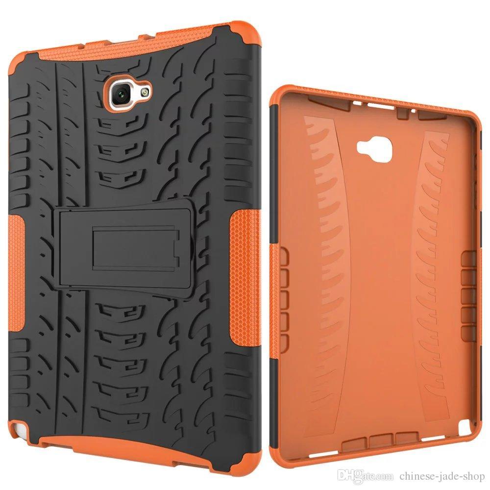 Hybrid-Kickstand-Auswirkungen Robuste Hochleistungs-TPU + PC-Abdeckungsfall für Samsung Galaxy TAD A 10.1 P580 P585 Tab S4 10.5 T830 T835 40P