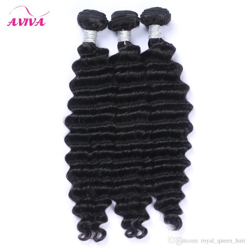 البرازيلي موجة عميقة مجعد الشعر ينسج حزم غير المجهزة بيرو الماليزية الهندية المنغولية عميق مجعد الشعر البشري اللون الطبيعي
