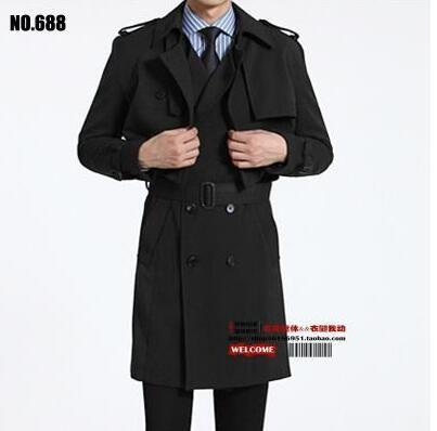 aafb72b28cc41 2017 New Designer Slim Sexy Two Pieces Trench Coat Men Overcoat Long ...