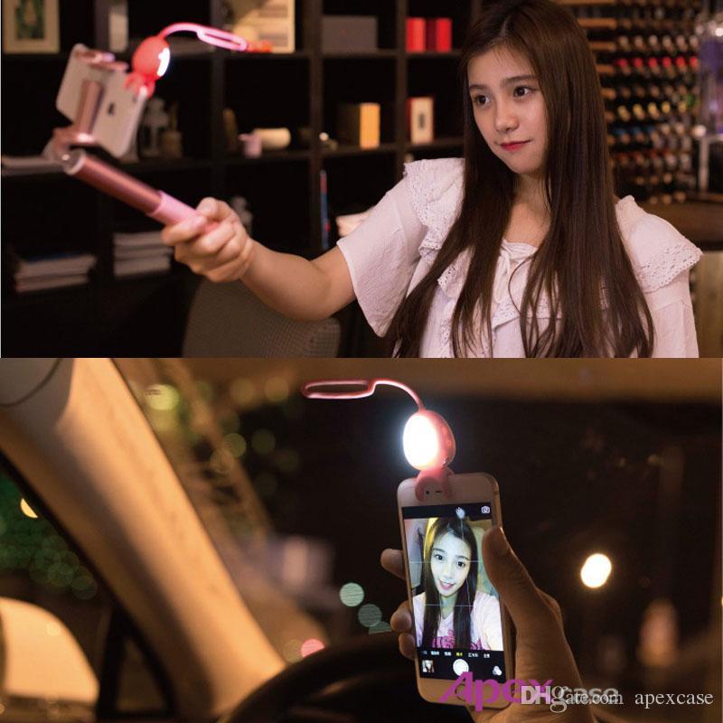 Super Cute Alien Taki 2 in 1 Selfie Phone fill-Light MARTUBE Selfie LED Lamp Remote Control Self-timer For Smartphone Selfie Photo