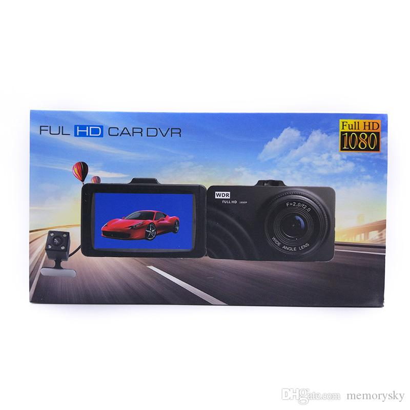130 Megapixel LCD 3.0 inch Car DVR Camcorder Dash cams Dual Camera Car Video recorder full hd 1080p parking recorder Cycle Recording