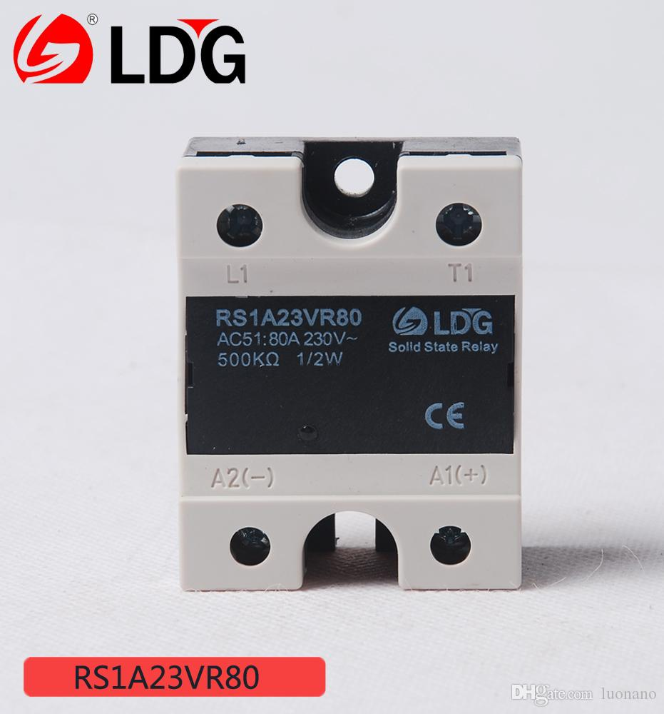 2018 Ldg Single Phase Ac Ssr Relay Module Solid State Rs1a23vr80 Load Current 80a Zero Crossing Type Trica High Reliability From Luonano