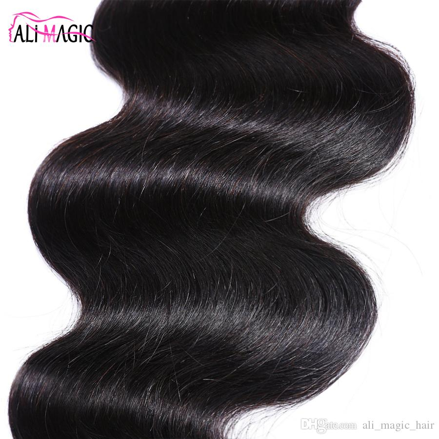 Ali Magic Factory Outlet Brazilian Body Wave Human Hair Weave Bundles 3 Bundles Hair Extension 10-28 Inch 100% Remy Hair Weave