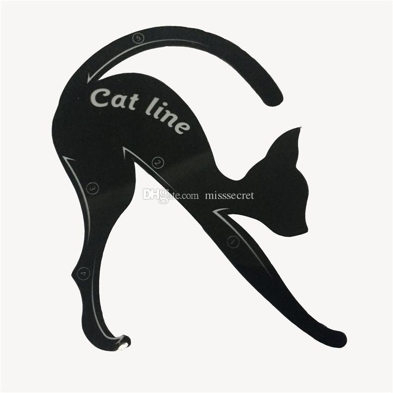 2 en 1 Cat Eyeliner Stencil Multifunción Eye Stencil Cat Eyeliner Stencil para delineador de ojos Plantilla de tarjeta Cola de pescado Doble ala Eyeliner Stenci