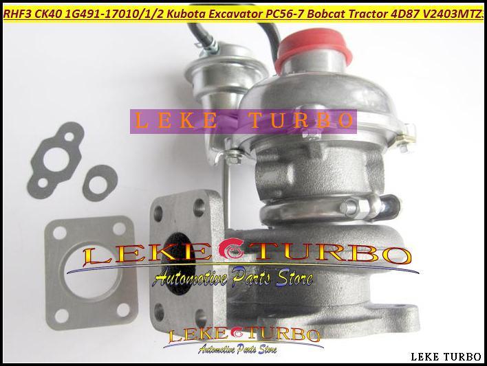 TURBO RHF3 CK40 VA410164 1G491-17011 1G491-17012 1G491-17010 Turbocharger For Kubota Excavator PC56-7 Bobcat Tractor 4D87 V2403-M-T-Z3B (3)