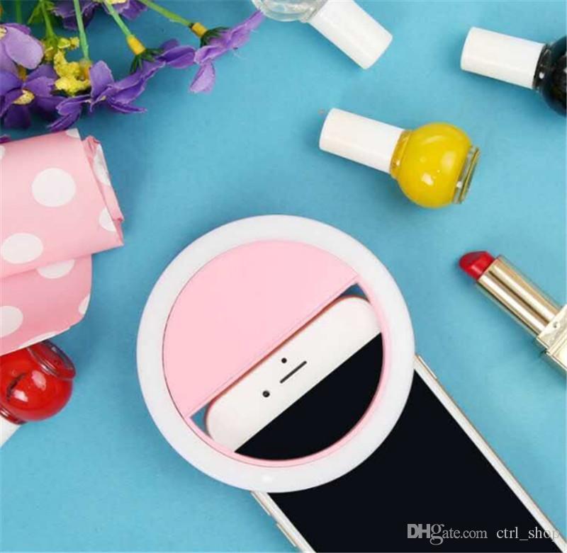 Selfie portátil flash led câmera fotografia anel de luz anel de fotografia de iluminação LED anel selfie luz para smartphone iphone