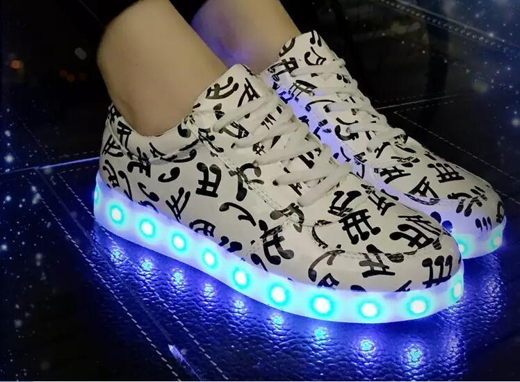 8f32229ab00f LED Flash ShoesUSB Charging Boost 350 Sneakers Casual Shoes for Mens And Womens  Shoe Footwear LED Shoes Running Shoes Casual Shoes Online with  32.16 Pair  ...