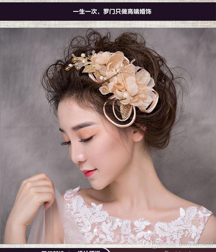 Grosshandel Frau Kopfschmuck Haar Lomen Braut Koreanische Susse Blume