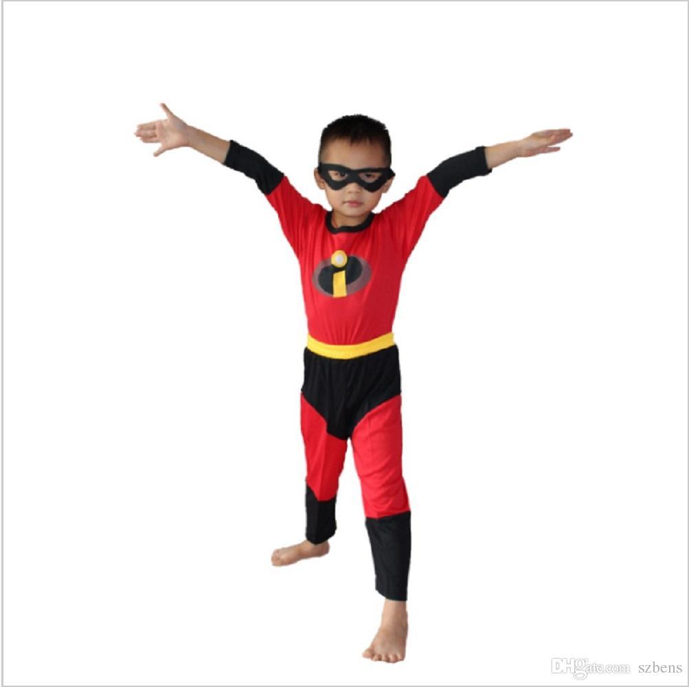 Compre Niño Los Increíbles Disfraz Disfraz De Halloween Para Niños Juego De Roles Fiesta Cosplay ...