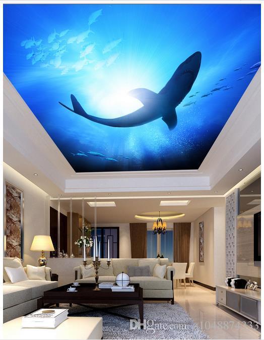 high quality custom 3d ceiling wallpaper