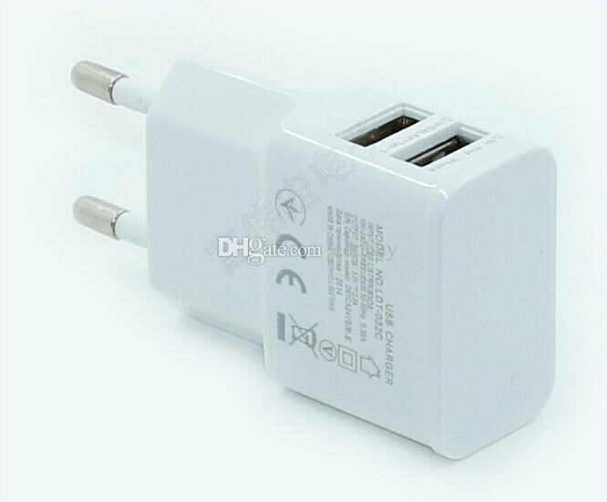 Universal 2A 2 Ports USB US Wall Charger Adapter for Samsung for iPhone for HTC with good quality wholesale 2016