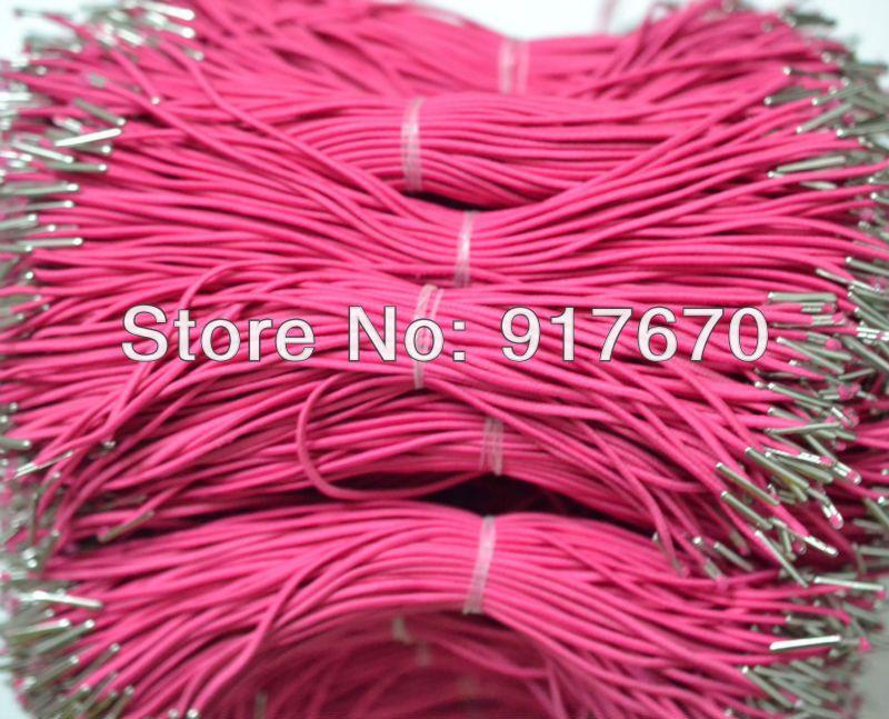 100 Stk. Pro Los 2 mm weiße elastische Schnüre für Masken mit elastischen Kordelstacheln Zubehör für Kordelstacheln