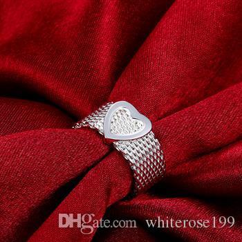 Groothandel - detailhandel laagste prijs kerstcadeau, gratis verzending, nieuwe 925 zilveren mode ring R043