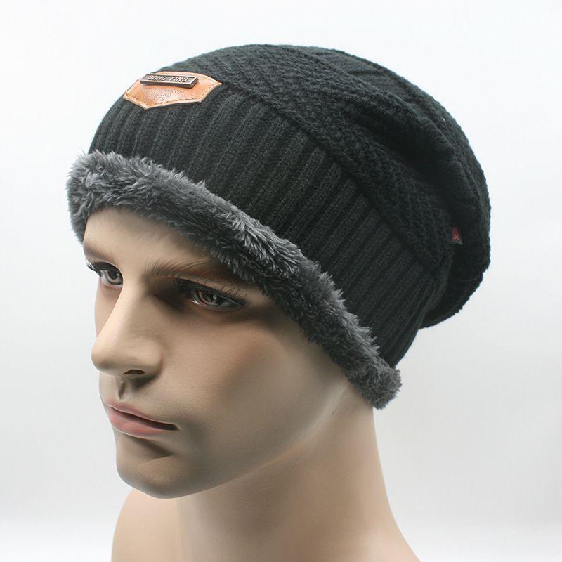 f6dc209b88268 New Brand Beanies Knit Men S Winter Hat Caps Skullies Bonnet Winter Hats  For Men Women Beanie Fur Warm Baggy Wool Knitted Hat Baby Hat Crochet Baby  Hats ...