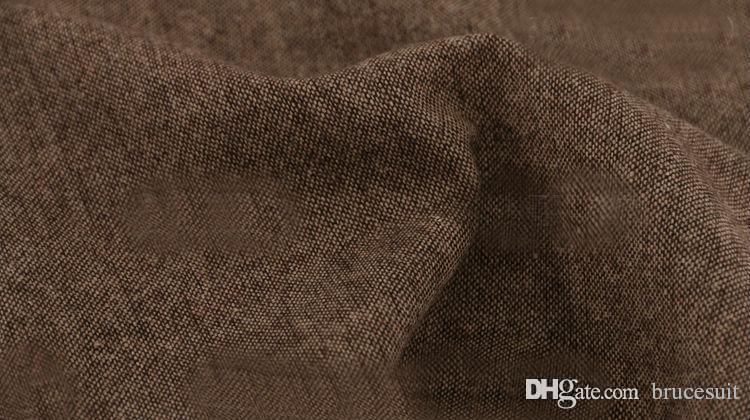 2019 Colheita Do Casamento Do Vintage Brown Tweed coletes feitos sob encomenda do Noivo colete dos homens ajuste fino sob medida vestidos de casamento para homens