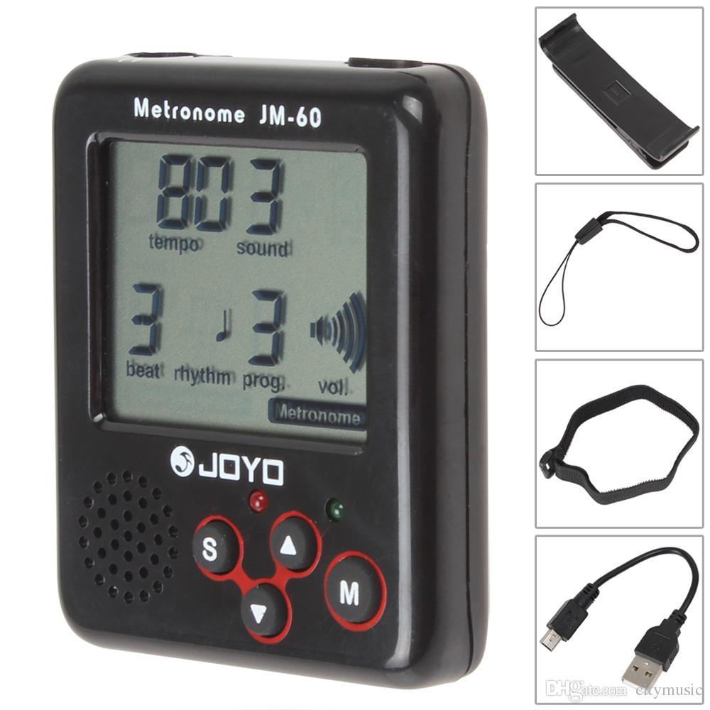 JOYO JM-60 Clip-on Guitar Tuner Electronic Metronome Tone Generator Tuner for Guitar Violin Ukulele Tempo Training