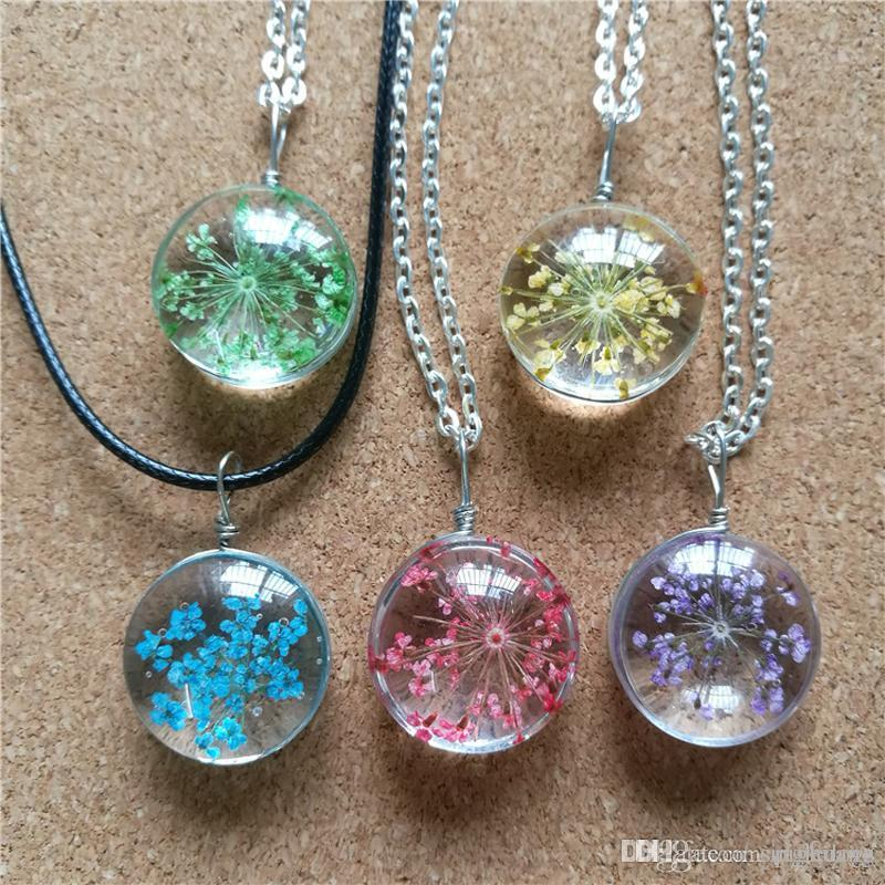 Wholesale diy glass pendants snow pearl flower necklaces plant wholesale diy glass pendants snow pearl flower necklaces plant necklace for women original pendant necklaces jewelry turquoise pendant necklace emerald aloadofball Images