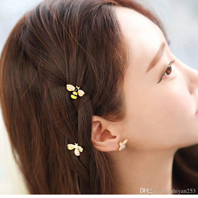 Cute Girls Crystal Wings Bees Hair Jewelry Animal Styles Hairpins Hair Clips for Women's Hair Accessories Barrettes