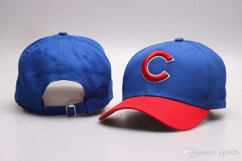 Wholesale Cubs Golf Visor Baseball Snapback Hats Brands Out Door Sun Caps  Men S Cheap Flat Bill Sport Fashion Adjustable Bones In Blue Flat Cap  Trucker Hats ... dfd62f09f6b5