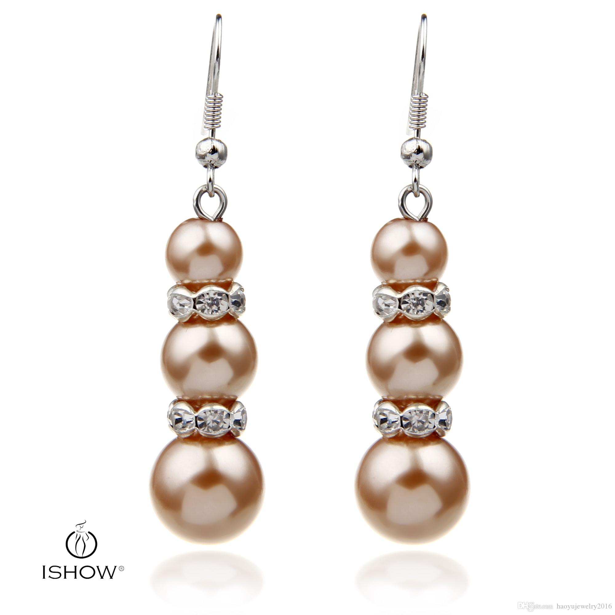 pearl with yellow earrings in gold pearls product thecastlejewelry