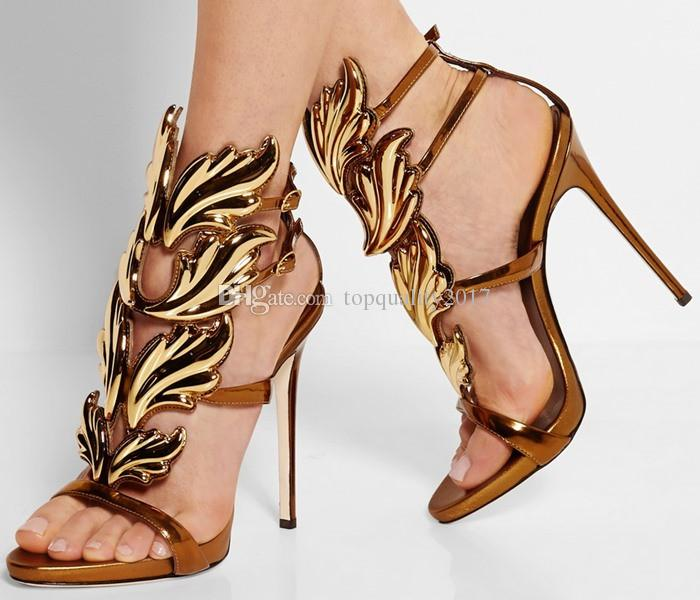 discount low shipping fee nicekicks for sale hot sale 2017 women sandals leaf wing gladiator high heel shoes summer fashion prom wedding dress sandals plus size 42 cheap sale discounts discount websites CQHbI