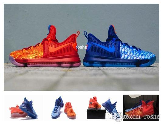 11dc280771b5 2017 New Style Zoom KD 9 Fire   Ice EP Mens Basketball Shoes