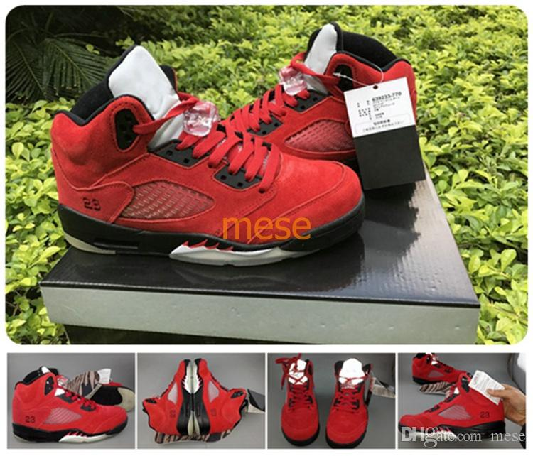 e68cf2d58b0e ... eastbay on april 19th sneakernews a64d2 88261  official store air retro  5 v basketball shoes raging bull university red sneakers sport shoes with