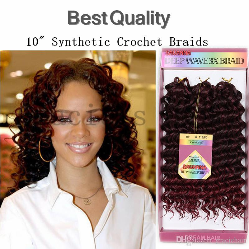 2018 Synthetic Curly Red Hair Extensions Crochet Braids Deep Wave