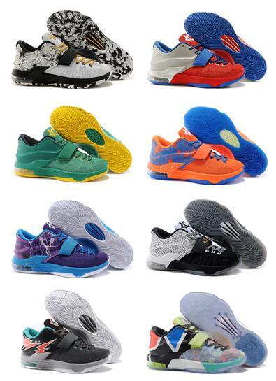 30 Colours 2017 Newest Kevin Durant Kd 7 Basketball Shoes Kd7 Sports ...