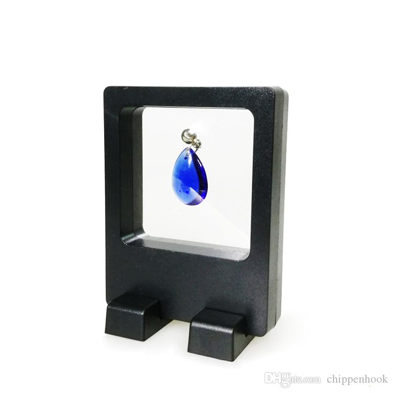 Wholesale PET Multifunctional Jewelry Display Earring Necklace Ring Display Stand Clear Accessories Display Box 7*9 cm
