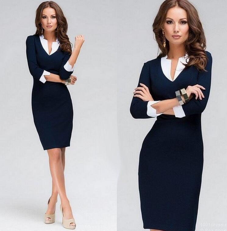 Women s Elegant Work Dress Business Office Career Party Pencil ... 7007367cec36