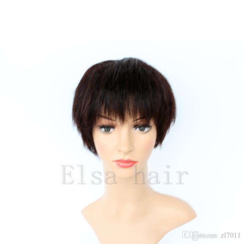 2017 venta caliente del cordón del pelo humano pelucas ninguno de encaje sin cola corta Bob brasileñas del pelo peluca corta del frente del cordón pelucas para las mujeres negras