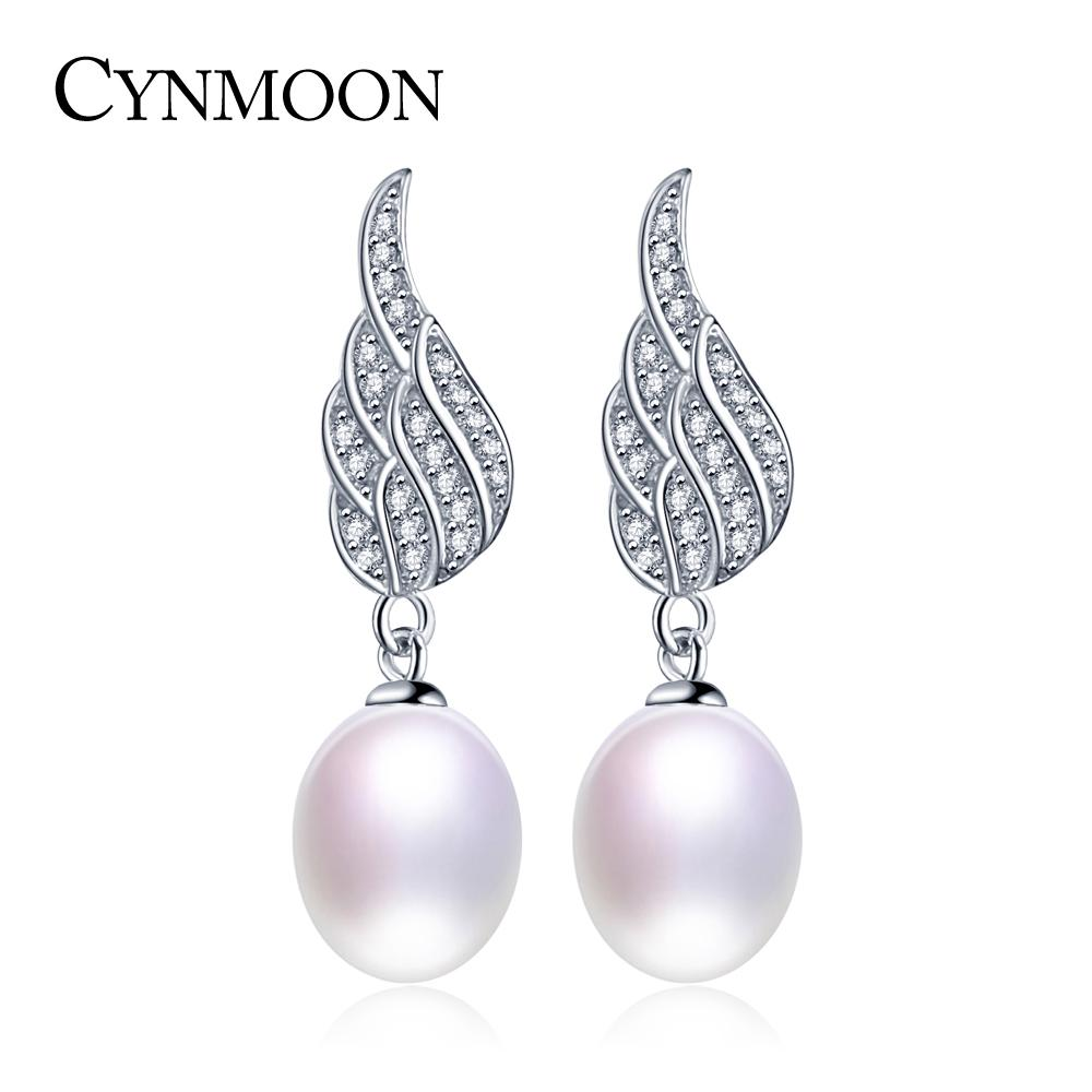 f22b964f0 2019 Hot Sale 8 9mm AAA Quality Freshwater Angel Wing Pearl Earrings For  Women Party Gift 925 Silver Pearl Drop Earrings Mother Day Gift From  Z7h8p9, ...