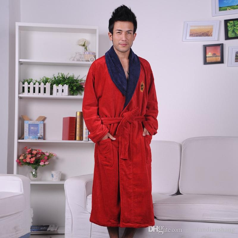 4014cfecde Cotton Bathrobe Men Plus Size XXXL Men s Terry Bathrobes Thickening ...
