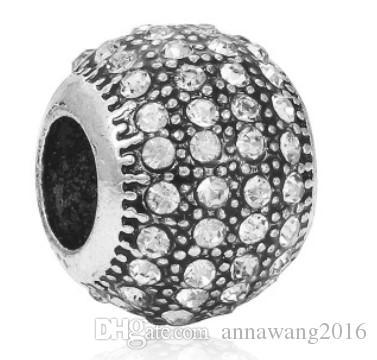 Gümüş Pandora Bilezik Uyar Çok Katmanlı Kristal Boncuk Diy Için Charms Avrupa Tarzı Yılan Charm Zincir Moda DIY Takı Toptan