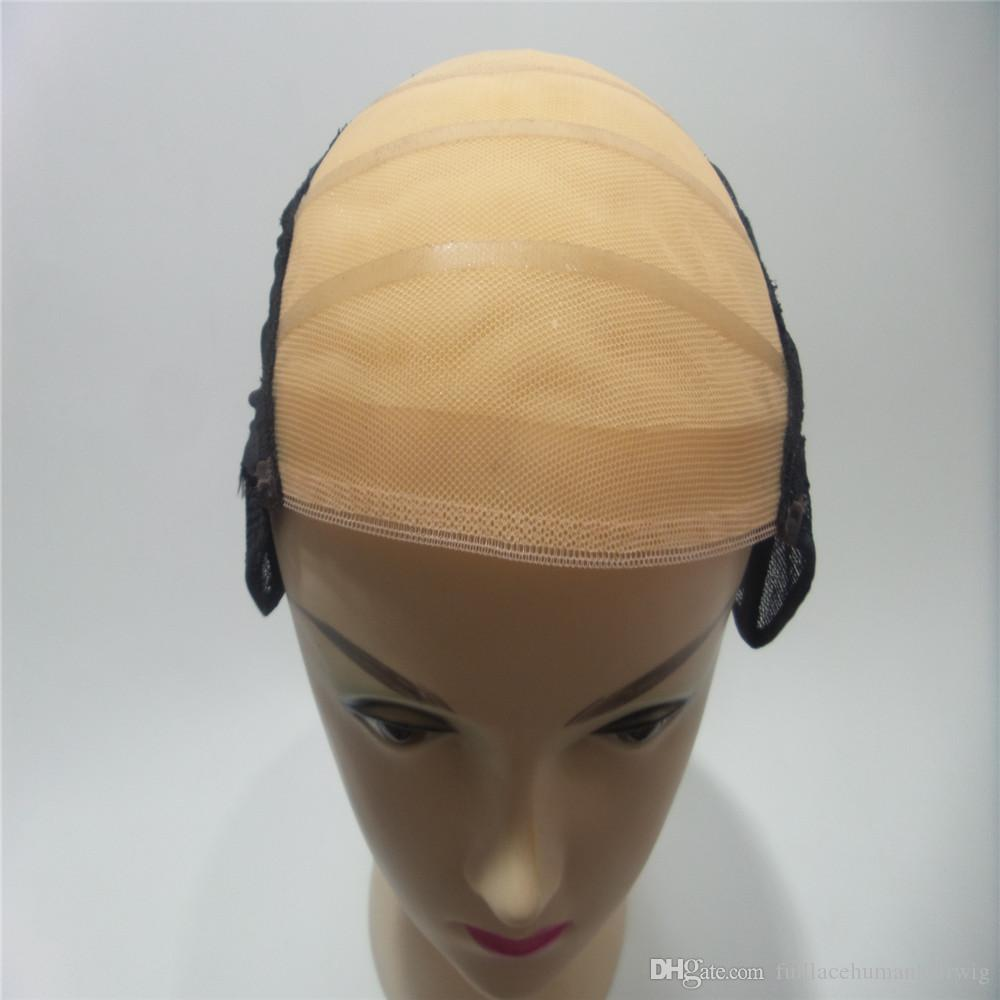 simulation of the scalp Swiss net High Quality Caps For Making Wigs Adjustable Weaving Cap with Adjustable Strap and Front Ultra Skin