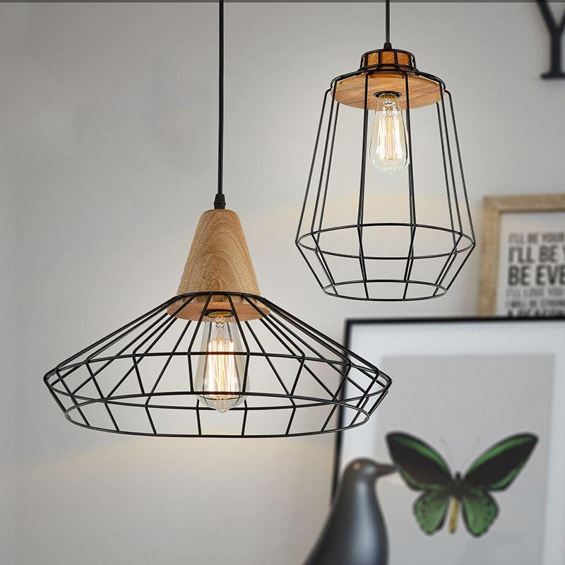 interiors enamel wire shade lamp vintage design bw products light empirical houndstooth yellow coloured shades industrial with style page cage