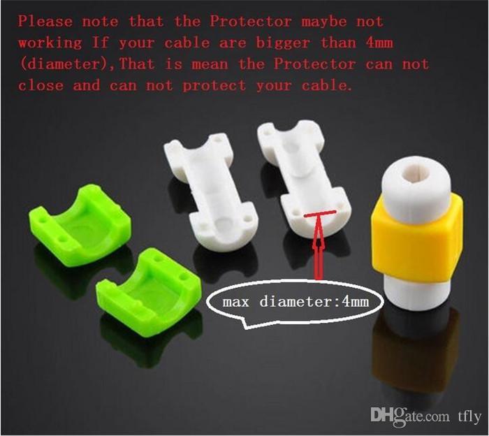 Protector de cable universal Auriculares de cargador de sincronización de datos USB protector de cable de línea Protector protector de caja para iphone X XS MAX XR 8 7 6 6S 5S más SAMSUNG