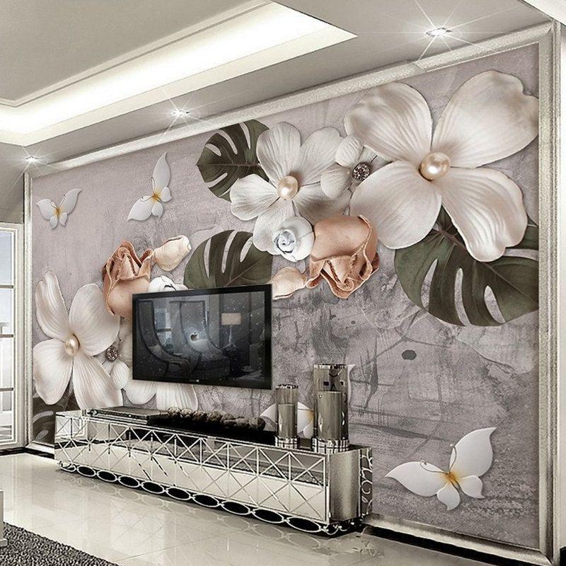 Custom Retro Wallpaperelegant Lotus Large Murals Papel De Parede