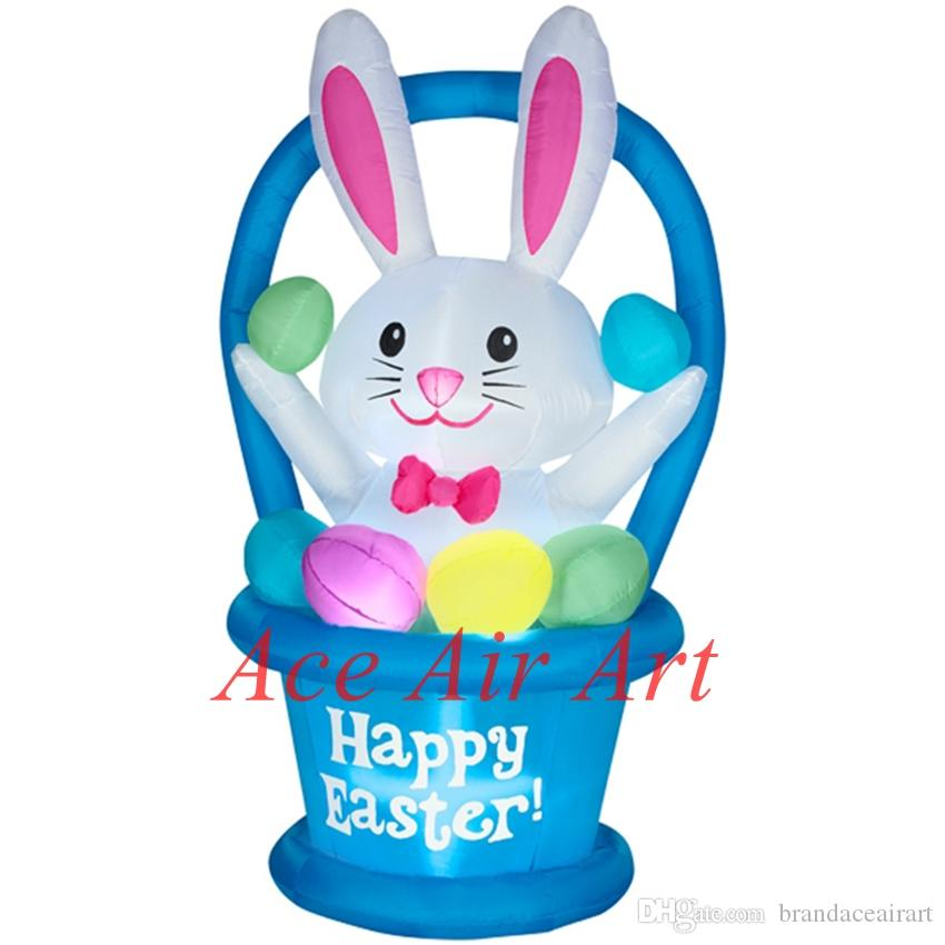 Offered by Ace Air Art Easter Decoration Little inflatable bunny in the blasket for festival decoration